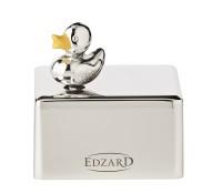 """Spieluhr, Musikbox Ente, edel versilbert, anlaufgeschützt, 5x6 cm, Melodie """"Guten Abend Gute Nacht"""""""