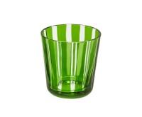 SALE Kristallglas / Teelichthalter Ela, grün, handgeschliffenes Glas , Höhe 8 cm, Füllmenge 0,14 Lit