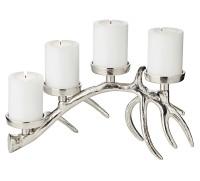 Kerzenleuchter Tischleuchter Adventsleuchter Hugo, Länge 35 cm, für 4 Stumpenkerzen ø 6 cm