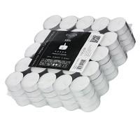 100 Stück Teelichter weiß, Premium Wachs, Alu-Cup, Durchmesser 39mm, ohne Duft, Brenndauer 4 Stunden
