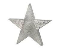 Dekostern, Stern zum Auftstellen, Aluminium gebürstet, vernickelt, Höhe 38 cm