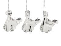 SALE 3er Set Baumschmuck Heilige 3 Könige, 6 x 4,5 cm, edel versilbert, anlaufgeschützt