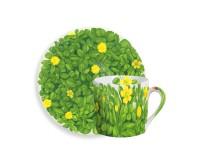 Taitu PRATI ITALIANI Espressotasse mit Untertasse 0,1 Liter (gelbe Blüten)