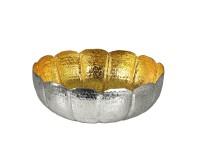 SALE Schale Dekoschale Leandros, Reiskornmuster, innen Gold-Optik, Durchmesser 37 cm