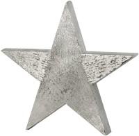 SALE Dekostern, Aluminium gebürstet vernickelt, Höhe 38 cm