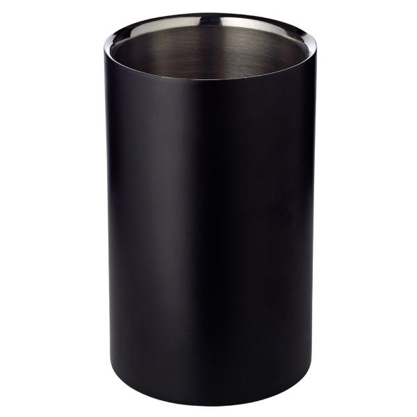 2. Wahl Weinkühler Pearl, doppelwandig, außen matt schwarz, innen Edelstahl, Höhe 20 cm, ø 12 cm