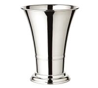 Blumentopf Blumenübertopf Vase Tromba schwerversilbert, Höhe 25 cm, Durchmesser 19 cm