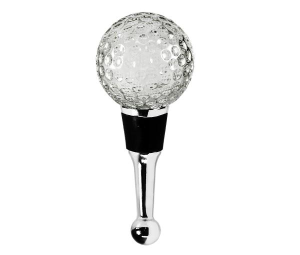 Flaschenverschluss Golf für Champagner, Wein und Sekt, Höhe 10 cm, Muranoglas-Art, Handarbeit