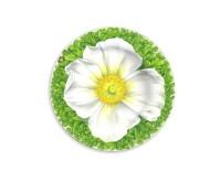 Taitu PRATI ITALIANI Teller flach ø 21,5 cm (weiße Blüte)