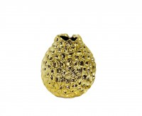 Vase Bella, Keramik goldfarben, Höhe 19 cm