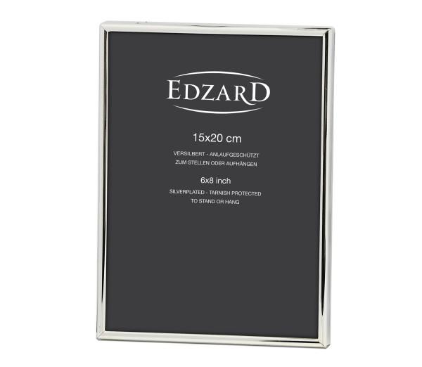 Fotorahmen Bilderrahmen Genua für Foto 15 x 20 cm, edel versilbert, anlaufgeschützt, 2 Aufhänger