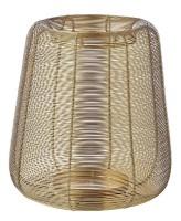 Laterne Kurt, Edelstahl vernickelt, Goldfarben, Höhe 29 cm