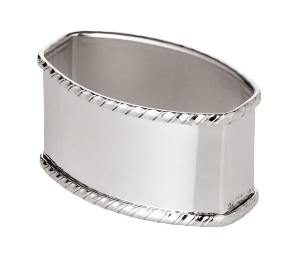 Serviettenring San Marco,oval, Länge 5,5 cm, Echtsilber 925/000, Silbergewicht 30 Gramm