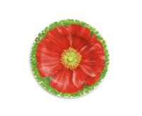 Taitu PRATI ITALIANI Teller flach Ø 21,5 cm (rote Blüte)