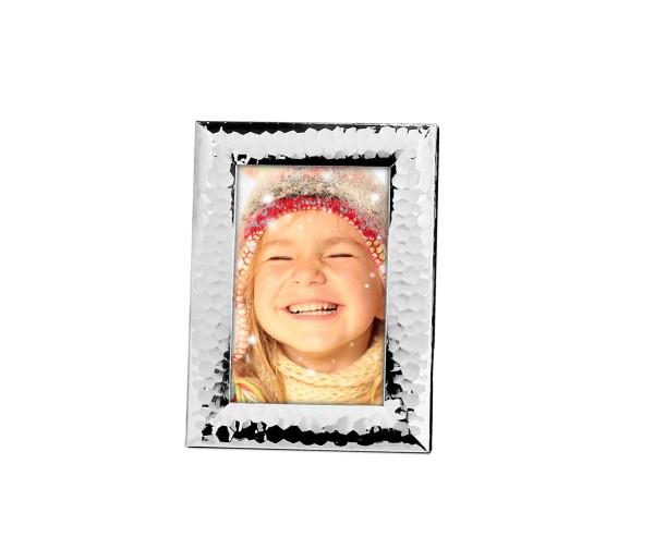 Fotorahmen Gubbio für Foto 10 x 15 cm, edel versilbert, anlaufgeschützt , mit 2 Aufhängern