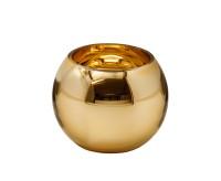 Maxiteelicht Goldrim H 9 cm