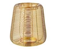 Laterne Windlicht Kurt, Edelstahl vernickelt goldfarben, Höhe 29 cm