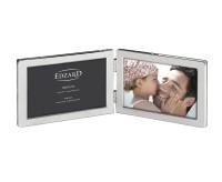 Doppel-Fotorahmen Salerno für 2 Fotos 10 x 15 cm quer, edel versilbert, anlaufgeschützt