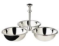 Triplettschale Dreifachschale Snackschale Perla, schwerversilbert, Durchmesser 21 cm