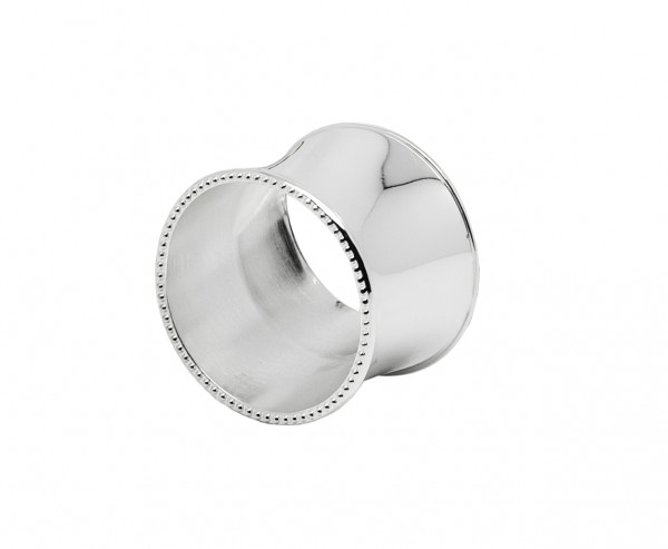 4er Set Serviettenringe Perla, edel versilbert, anlaufgeschützt, Durchmesser 5 cm