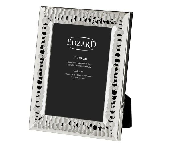 Fotorahmen Gubbio für Foto 13 x 18 cm, edel versilbert, anlaufgeschützt , mit 2 Aufhängern
