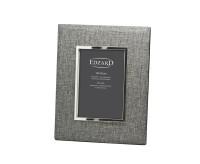 SALE Fotorahmen Elda für Foto 13 x 18 cm, Textil grau, edel versilbert, anlaufgeschützt, mit 2 Aufhä