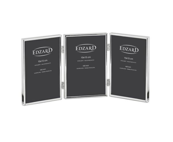 Dreifach-Fotorahmen Genua für 3 Fotos 10 x 15 cm, edel versilbert, anlaufgeschützt