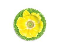 Taitu PRATI ITALIANI Teller flach ø 21,5 cm (gelbe Blüte)