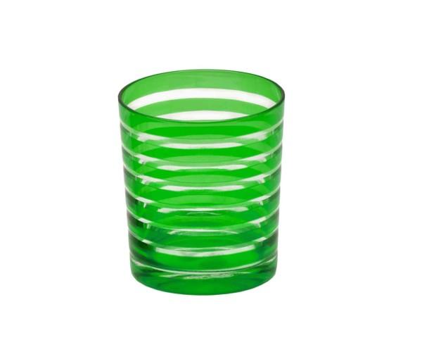 SALE Kristallglas / Teelichthalter Nelson, grün, handgeschliffenes Glas , Höhe 9 cm, Füllmenge 0,25
