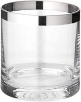 Windlicht Molly, mundgeblasenes Kristallglas mit Platinrand, Höhe 8 cm, Durchmesser 7 cm