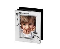 Fotoalbum Bim, versilbert, anlaufgeschützt, für 100 Fotos 10x15 cm, schwarze Seiten