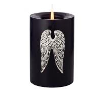 4er Set Kerzenpin Kerzenstecker Flügel Wings, Aluminium vernickelt, Höhe 7 cm