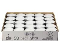 SALE 50 Stück WENZEL Tealights Teelichtkerzen Teelichter, weiß, Aluminiumhülle, ohne Duft
