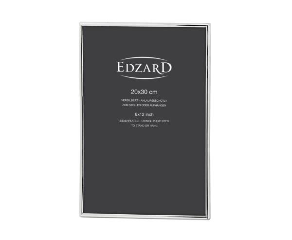 Fotorahmen Bilderrahmen Genua für Foto 20 x 30 cm, edel versilbert, anlaufgeschützt, 2 Aufhänger