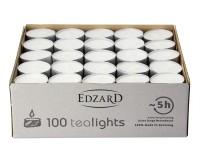 100 Stück WENZEL Tealights Teelichtkerzen Teelichter, weiß, Aluminiumhülle, ohne Duft
