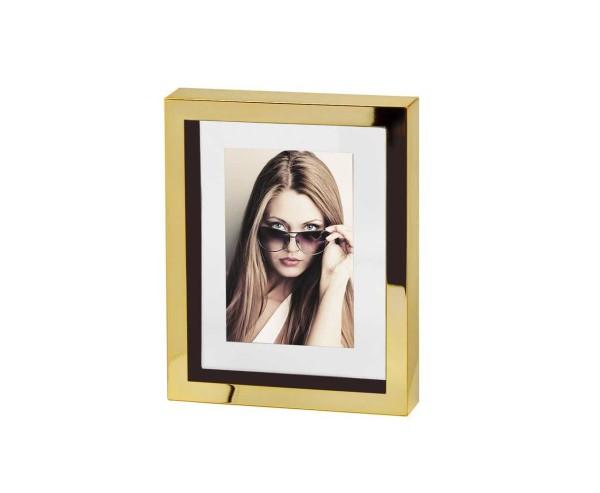 2. Wahl Fotorahmen Bilderrahmen Caserta Gold für Foto 10 x 15 cm, edel versilbert, anlaufgeschützt