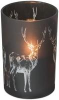 Windlichtlicht Hirsch H 18 cm
