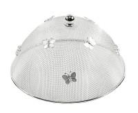 Speiseschirm Schutzhaube Butterfly, edel versilbert, anlaufgeschützt, Durchmesser 30 cm