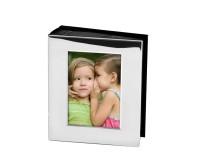 Fotoalbum Brescia, versilbert, anlaufgeschützt, für 80 Fotos 10x15 cm, weiße Seiten