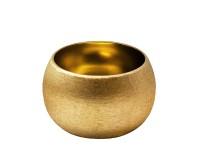 Schale Dekoschale Longley, Aluminium, Gold-Optik, Durchmesser 11 cm, Höhe 7 cm