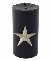 4er Set Kerzenpin Kerzenstecker Stern Weihnachtsstern, Aluminium vernickelt, Höhe 7 cm