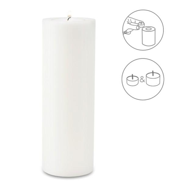 Teelichthalter Dauerkerze Cornelius für Maxi-Teelicht, Höhe 30 cm, ø 10 cm, hitzebeständig 90 Grad
