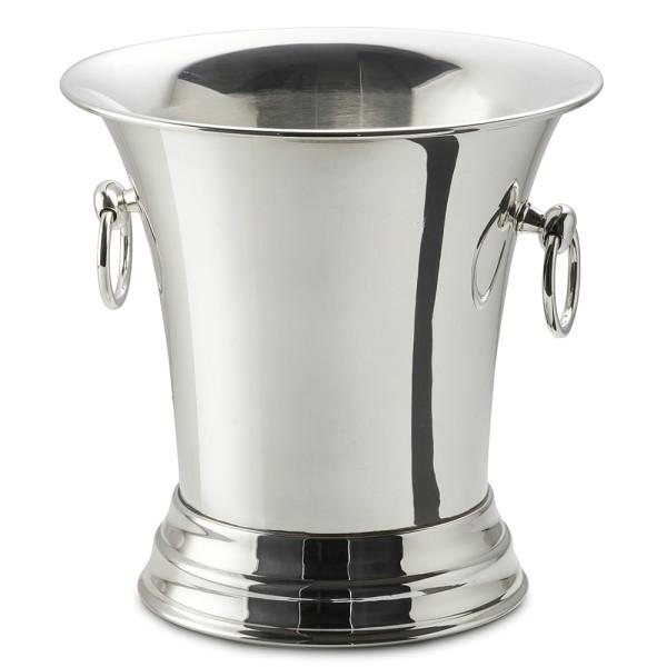 2. Wahl Sektkühler Weinkühler Tromba, schwerversilbert, Höhe 25 cm, Durchmesser 25 cm