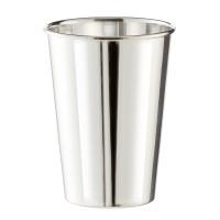 Becher Trinkbecher Silberbecher Vase Konus, schwerversilbert, Höhe 11 cm