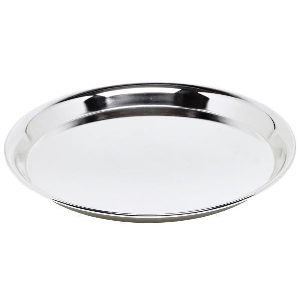 SALE Tablett, Serviertablett Marlene, rund, Edelstahl hochglanzpoliert, Durchmesser 34 cm