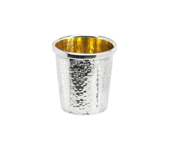 Silberbecher Schnapsbecher Likörbecher Laurentia, Echtsilber 925/000, innenvergoldet, Höhe 4 cm