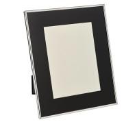 Fotorahmen Elda für Foto 13 x 18 cm, Passepartout, edel versilbert, anlaufgeschützt,2 Aufhänger