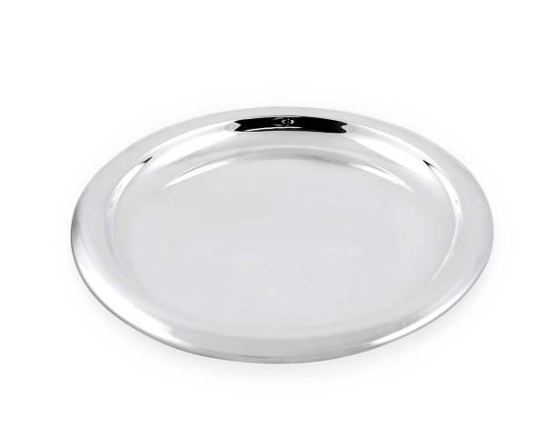 SALE Tablett Serviertablett Sheffield, rund, schwerversilbert, Durchmesser 34 cm