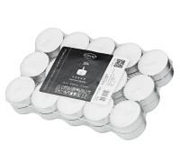 30 Stück Teelichter weiß, Premium Wachs, Alu-Cup, Durchmesser 39 mm, ohne Duft, Brenndauer 4 Stunden