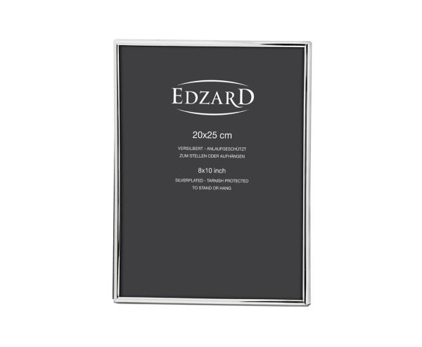 Fotorahmen Genua für Foto 20 x 25 cm, edel versilbert, anlaufgeschützt, mit 2 Aufhängern